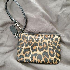 Coach Cheetah Print Wristlet